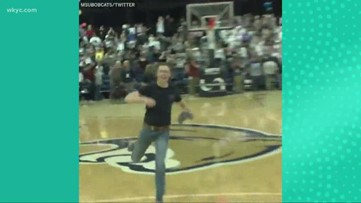 Worth the watch: Student sinks full court shot