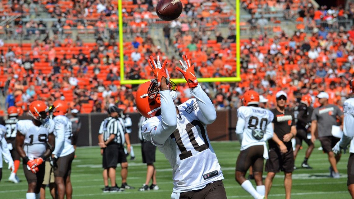 Image result for brown and orange scrimmage jaelen strong