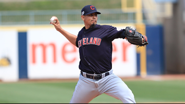 WATCH | Cleveland Indians pitcher Carlos Carrasco speaks in Akron after rehab appearance