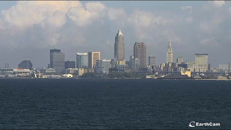 Downtown Cleveland on August 21, 2019