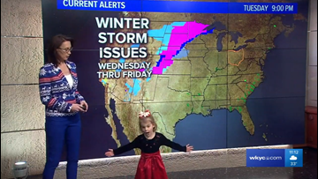 WATCH | Betsy Kling's daughters adorably take over Christmas night forecast