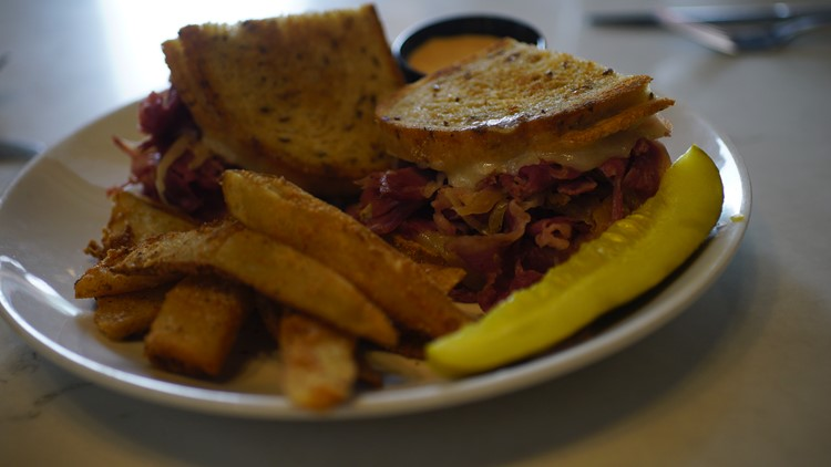 The classic reuben sandwich at Flannery's Pub