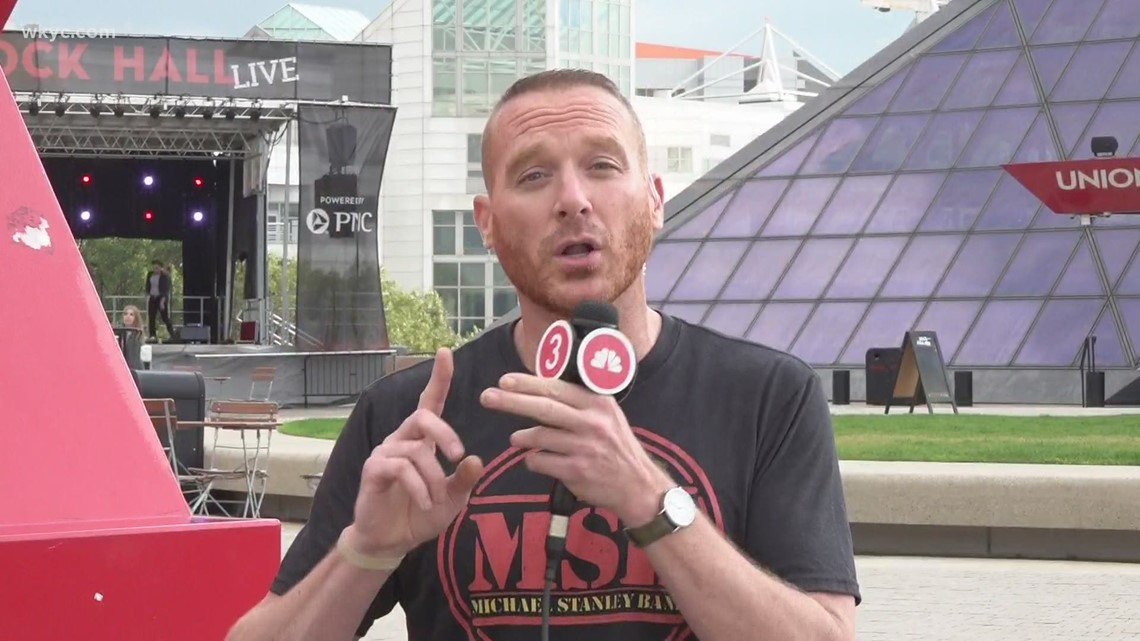 Mike Polk Jr. checks out the return of live music at the Rock & Roll Hall of Fame