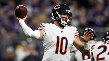 Mentor native Mitchell Trubisky's 3rd TD pass lifts Chicago Bears to 24-20 win over Detroit Lions