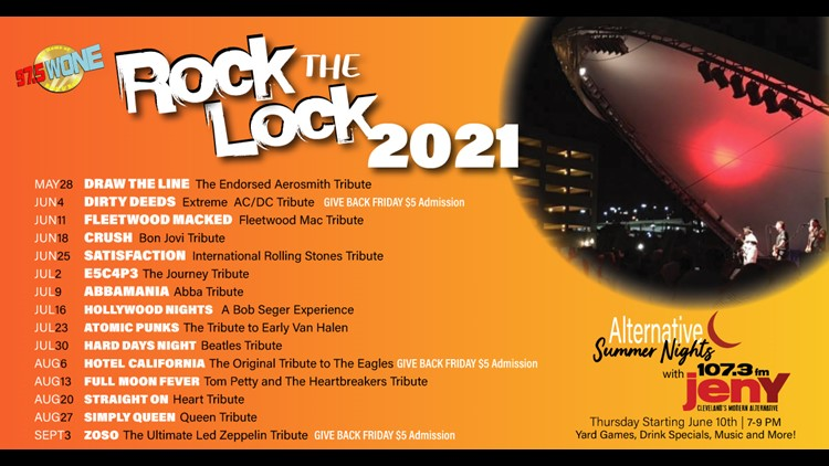 City of Akron announces schedule for 'Rock the Lock' concert series, other summer events