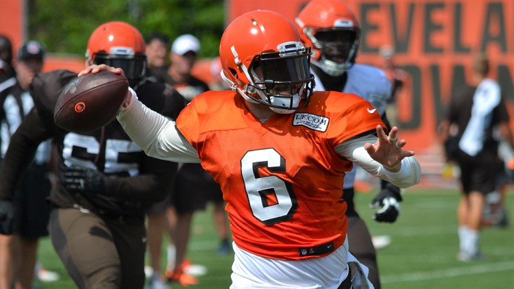 Baker Mayfield Cleveland Browns Training Camp August 1, 2019