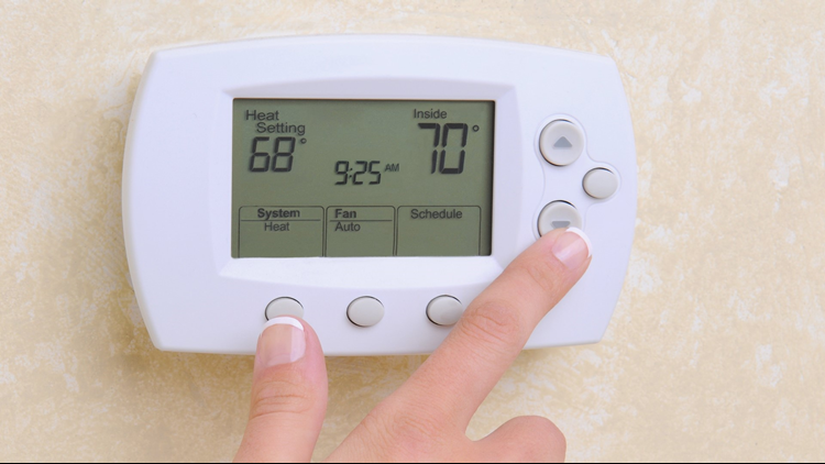 What's the right temperature on the thermostat to sleep and save money during the cold weather?