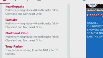 Social Media reacts to the Northeast Ohio earthquake