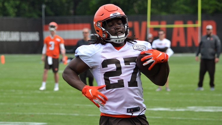 Kareem Hunt Cleveland Browns Minicamp June 4, 2019