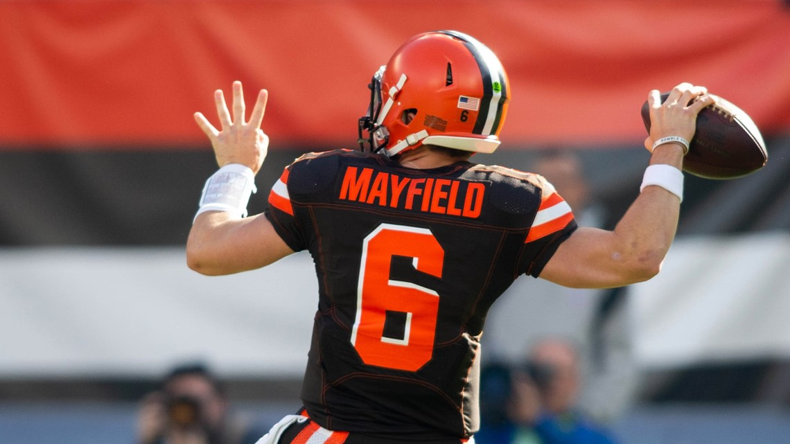 Cleveland Gas Prices >> Cleveland Browns QB Baker Mayfield wins third Pepsi Rookie ...