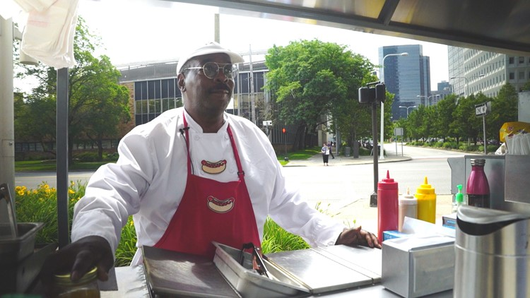 Ray, a Cleveland hot vendor for Lucky Dogs