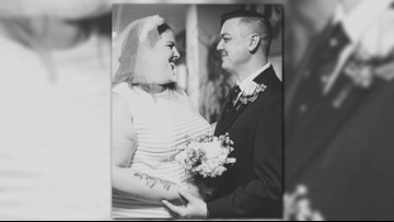 Lorain woman brings wedding to grandpa's hospital bed after devastating cancer diagnosis