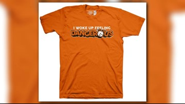promo code fbe7b 3c208 Cleveland Browns QB Baker Mayfield 'Dangerous' t-shirts ...