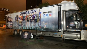 Sunday Night Football bus makes stop in Cleveland: Photos & video