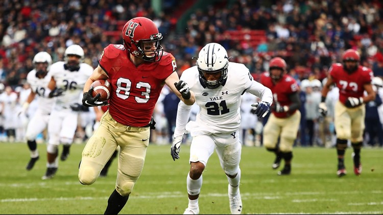 Harvard beats Yale 45-27 at Fenway Park in 135th meeting
