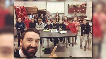 WKYC's Matt Wintz at Jefferson Area Junior High School