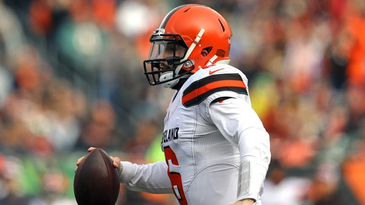 a99b0d57b WATCH  Cleveland Browns QB Baker Mayfield throws improbable TD to Jarvis  Landry