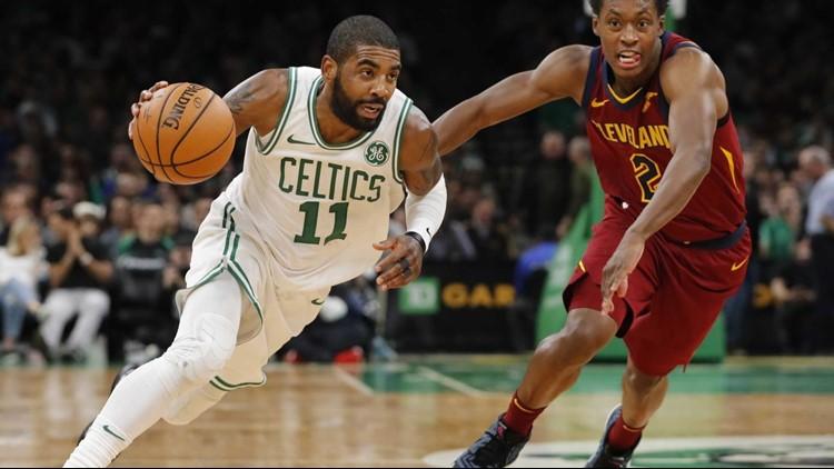 f56336d82 Kyrie Irving scores 29 as Boston Celtics rout Cleveland Cavaliers 128-95