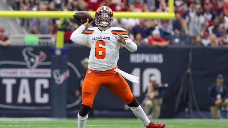 2cf812a86 WATCH  Baker Mayfield throws 31-yard TD pass to Breshad Perriman to give  Browns early lead over Broncos