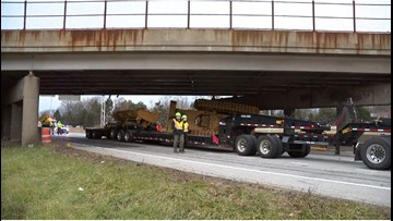 I-76 East in Akron re-opens after semi hits bridge
