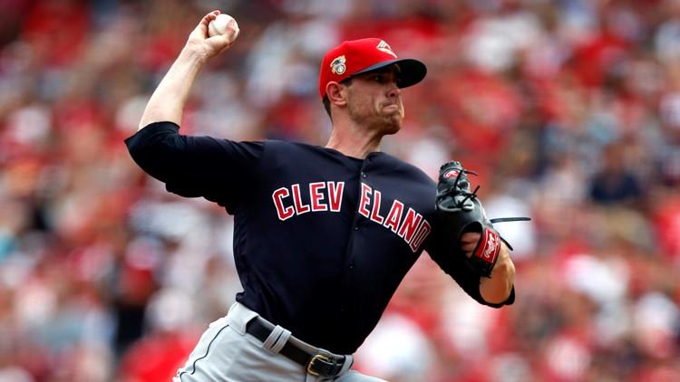 Shane Bieber Cleveland Indians-Cincinnati Reds Baseball