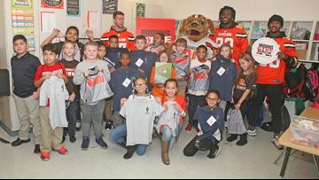 Cleveland Browns join Lorain City Schools to launch 'Titan Pride Uniform Program'