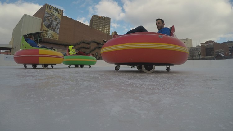 Winter fun: Ice bumper cars take center stage in Akron, ski resorts prepare for opening day