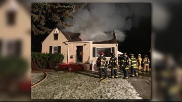 Mother, 3 children displaced after home catches fire in Bedford
