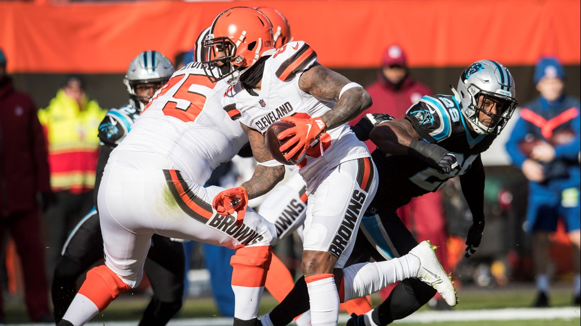 WATCH: Jarvis Landry rushes for 51-yard gain to set up Cleveland Browns TD vs. Carolina Panthers