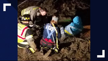 Crews in Ashtabula County rescue two people trapped in 'quicksand-like' mud