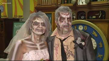 Undead nuptials: Cedar Point hosts 6 zombie weddings to kick off HalloWeekends on Friday the 13th