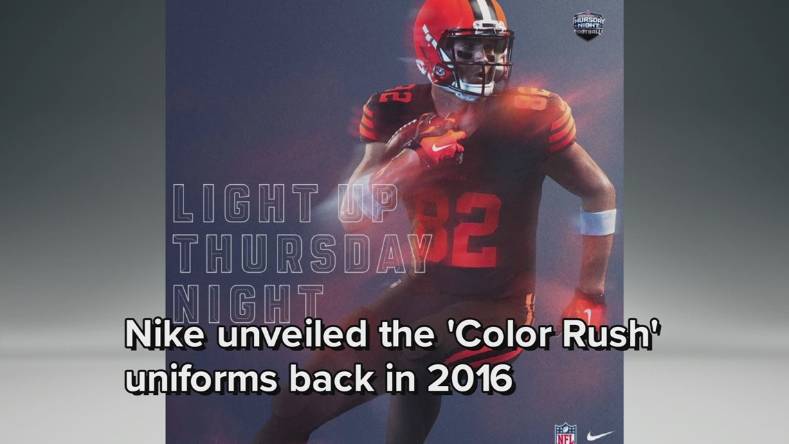 7bfbc9ed167 Cleveland Browns to wear 'Color Rush' uniforms multiple times in 2018 |  wkyc.com