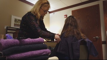 Free beauty salon opens at Akron Children's Hospital