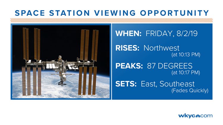 Space Station Viewing for August 2, 2019