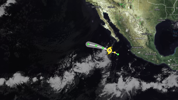 Tropical Storm Henriette on August 12, 2019