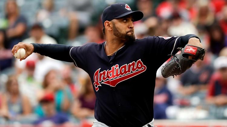 Danny Salazar Cleveland Indians-Los Angeles Angels Baseball