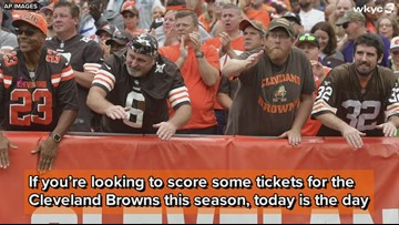 'Very limited amount' of Cleveland Browns single-game tickets on sale today