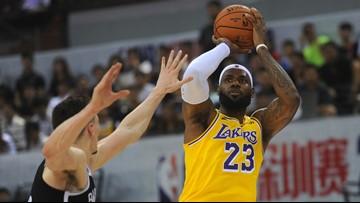 As NBA-China tweet rift continues, LeBron James enters spotlight