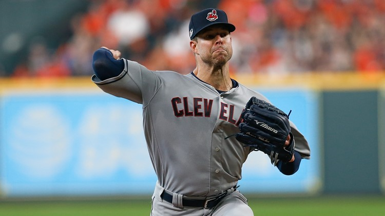 Cleveland Indians working on three-team deal for Corey Kluber