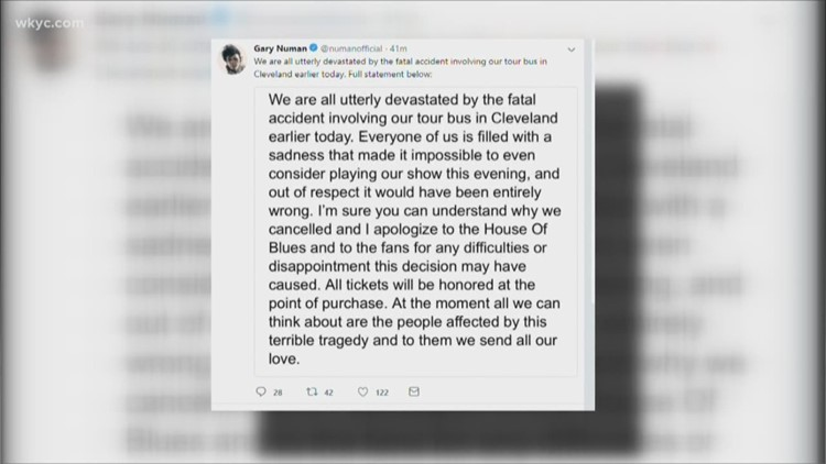 'We are utterly devastated': Gary Numan issues statement after tour bus  fatally hits man in CLE
