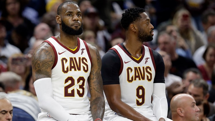 Sons of former Cleveland Cavaliers LeBron James and Dwyane Wade to
