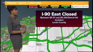 I-90 East reopens after car fire closure | wkyc com