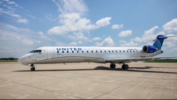 United Airlines debuts new jet with extra legroom, storage at Akron-Canton Airport; VIDEO, GALLERY