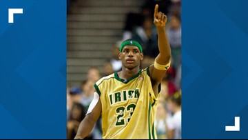 LeBron James' St. Vincent-St. Mary High School basketball jersey up for auction