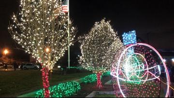 holiday lights display at Nela Park