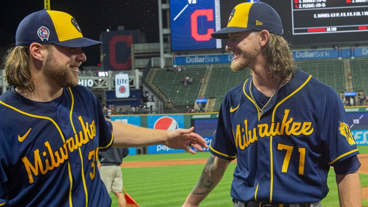 Milwaukee Brewers' Corbin Burnes, Josh Hader combine for MLB record 9th no-hitter, beat Cleveland Indians 3-0