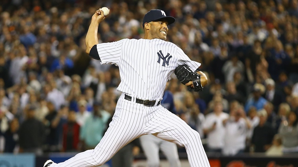 fad8936e0 New York Yankees closer Mariano Rivera pitches against the Tampa Bay Rays  in the ninth inning during their game at Yankee Stadium in the Bronx  borough of ...