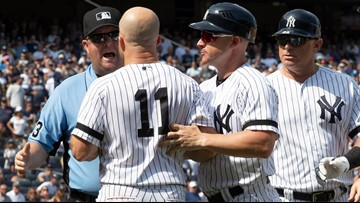 New York Yankees rack up 3 ejections in 6-5 win over Cleveland Indians
