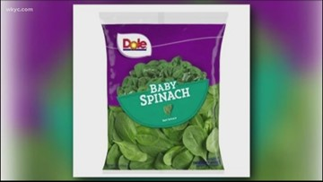 Dole announces recall of baby spinach due to possible salmonella risk