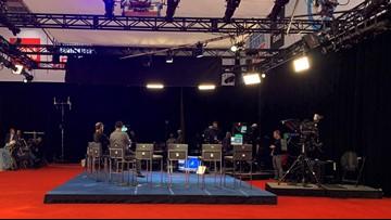 See behind the scenes of tonight's Democratic debate at Otterbein University